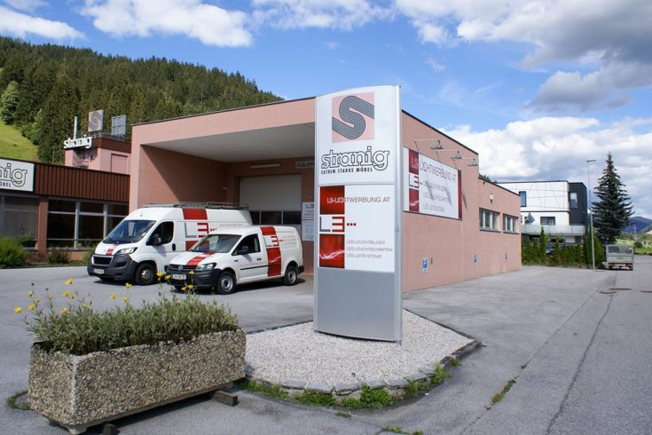 L3 Lichtwerbung in Radstadt, Salzburg