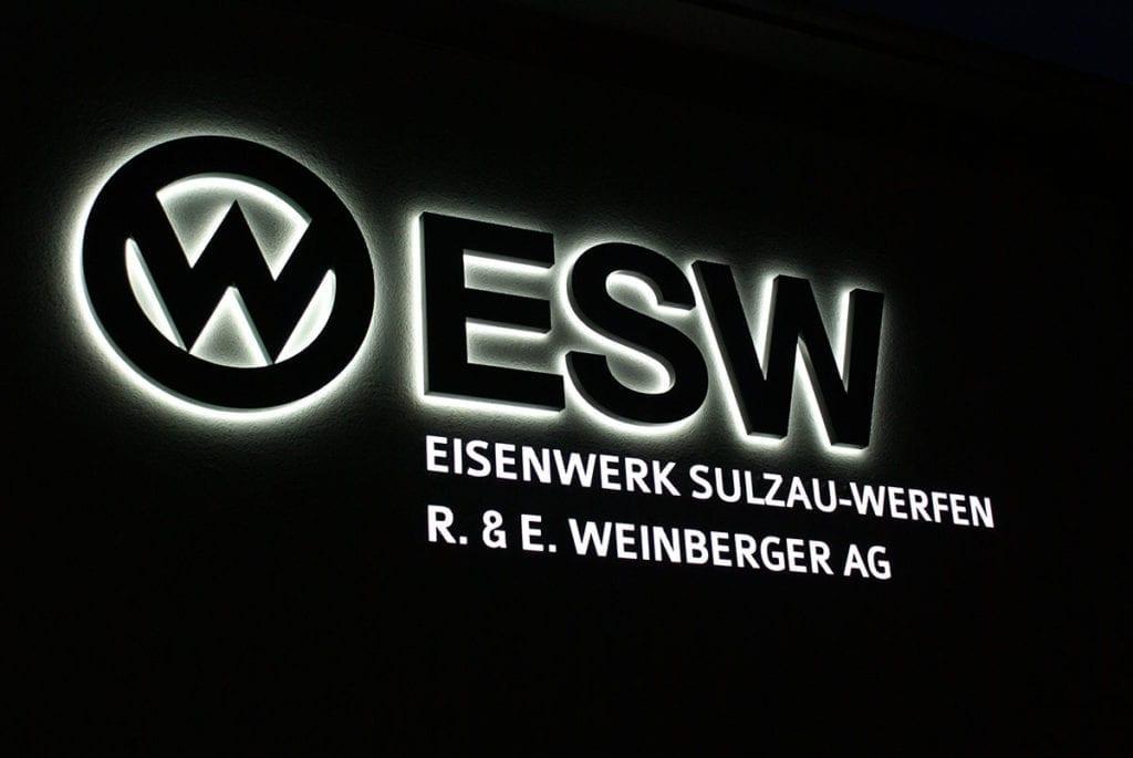 Referenz - Leuchtschrift, Eisenwerk Sulzau