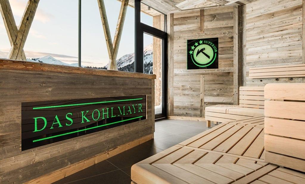 Referenz - Leuchtelement, Hotel Kohlmayr, Obertauern